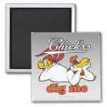 Chicks Dig Me 2 Inch Square Magnet