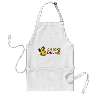 Chicks dig me! adult apron