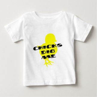 Chicks dig me baby boy t-shirt