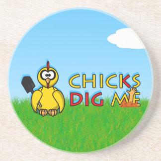 Chicks dig me! beverage coasters