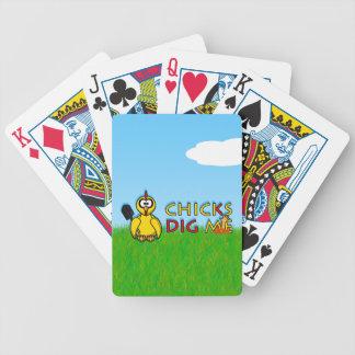 Chicks dig me! bicycle card decks