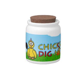 Chicks dig me! candy jars