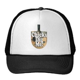 Chicks dig me Clr.jpg Trucker Hat