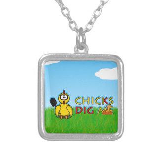 Chicks dig me! custom necklace