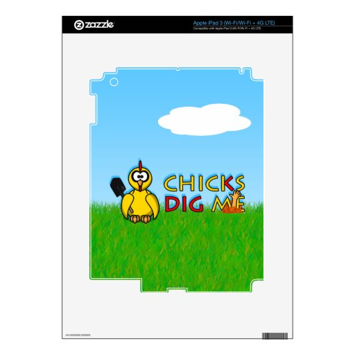 Chicks dig me! decal for iPad 3
