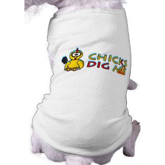 Chicks dig me! doggie tee shirt