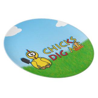 Chicks dig me! plates