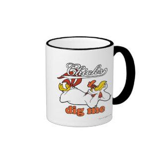 Chicks Dig Me Ringer Coffee Mug