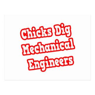 Chicks Dig Mechanical Engineers Postcard