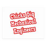 Chicks Dig Mechanical Engineers Postcards