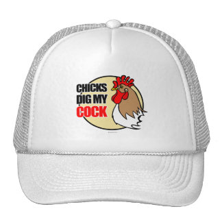 Chicks dig my cock- trucker hat
