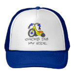 Chicks Dig My Ride T-shirts and Gifts. Trucker Hat