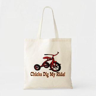 Chicks Dig My Ride Tricycle Tote Bag