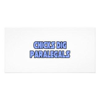 Chicks Dig Paralegals Custom Photo Card