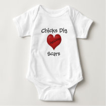 Chicks Dig Scars Baby Bodysuit