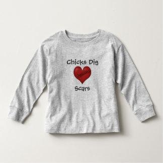 Chicks Dig Scars Toddler T-shirt