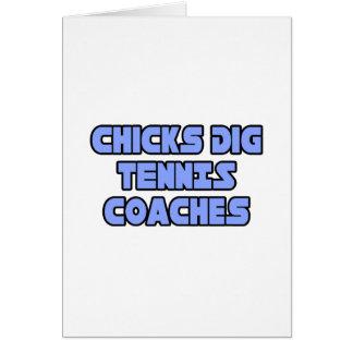 Chicks Dig Tennis Coaches Card
