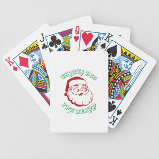Chicks Dig The Beard Bicycle Playing Cards