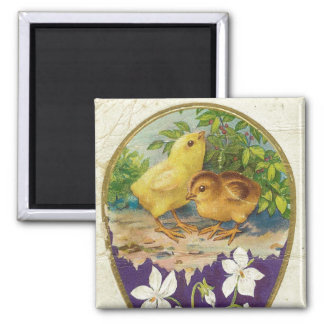 Chicks-Easter Greetings - Vintage Magnet