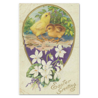 Chicks-Easter Greetings - Vintage Tissue Paper