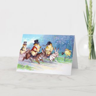 Chicks Easter Ride zazzle_card
