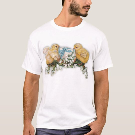 Chicks, Egg & Snowdrop Blossoms T-Shirt