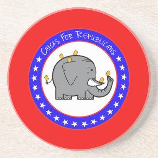 chicks for republicans coaster