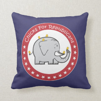 chicks for republicans pillow