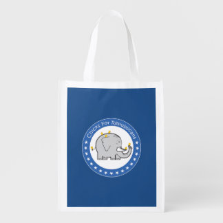 chicks for republicans reusable grocery bag