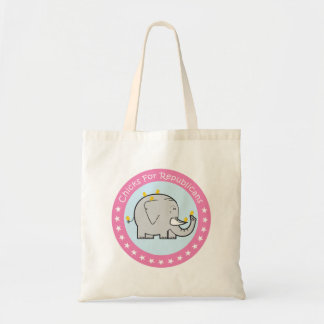 chicks for republicans tote bag