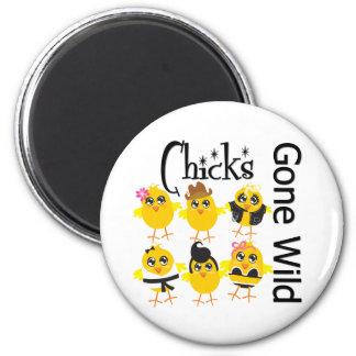 Chicks Gone Wild Magnets
