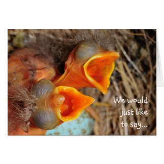 Chicks in a Nest Greeting Card