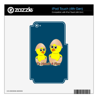 Chicks In Love To Hatch A Plan iPod Touch 4G Decal