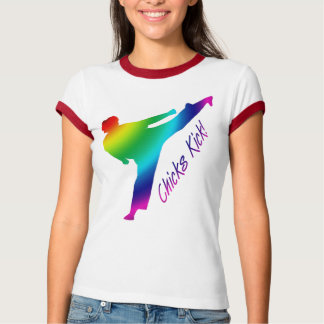 Chicks Kick! rainbow Tee Shirt