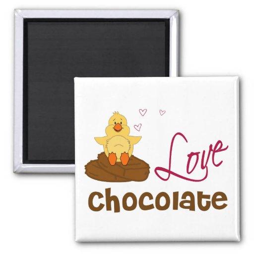 Chicks Love Chocolate Refrigerator Magnet