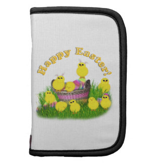 Chicks 'n a Easter Basket (Yellow Text) Planner