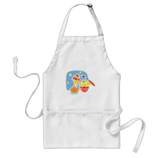Chicks Painting Easter Eggs Adult Apron