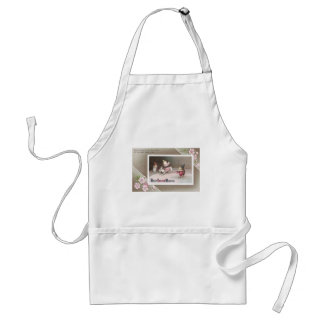 Chicks Rides Resinback Rabbit in Easter Circus Act Adult Apron