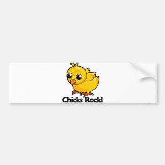 Chicks Rock! Bumper Sticker