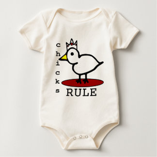 Chicks Rule Baby Bodysuit