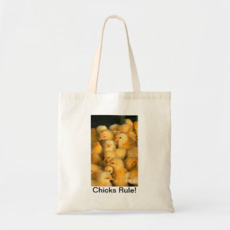 Chicks Rule! Baby Chick Humorous Funny Bags