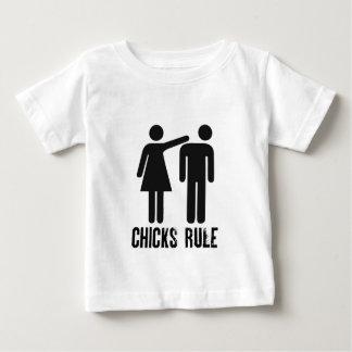 Chicks rule baby T-Shirt