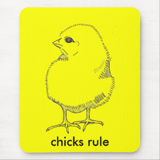 Chicks Rule Mouse Pad