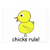 Chicks Rule Postcard