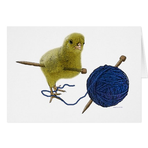Chicks who knits note card