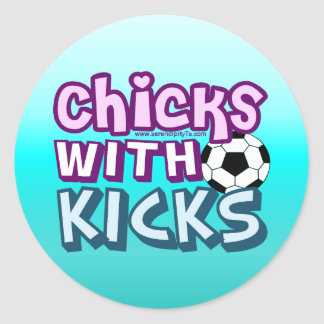 Chicks with Kicks Classic Round Sticker