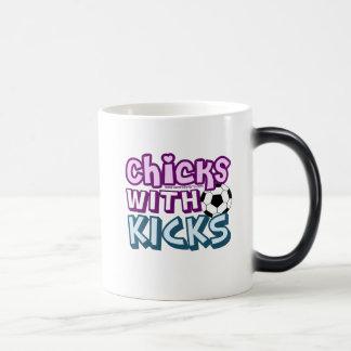 Chicks with Kicks Magic Mug