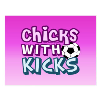 Chicks with Kicks Post Cards