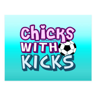 Chicks with Kicks Postcard