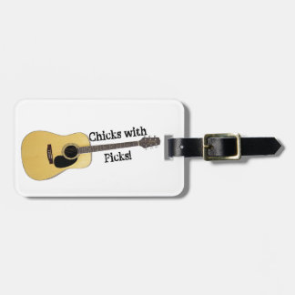 Chicks With Picks Bag Tag